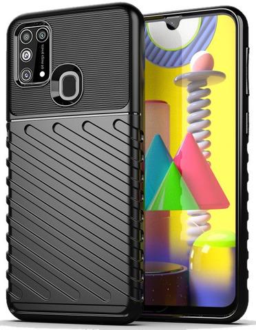Чехол Carbon для Samsung Galaxy M31 серия Оникс | черный