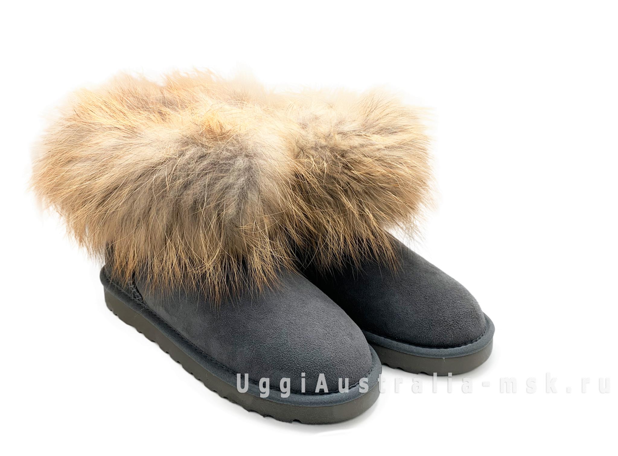 UGG Fox Fur Grey