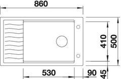 Мойка Blanco Elon XL 8S - схема