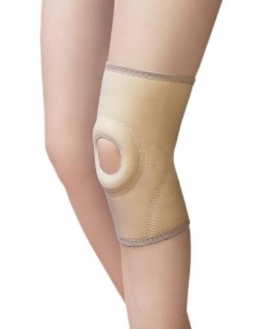 Бандаж коленный неразъемный с силиконовым кольцом мягкая фиксация