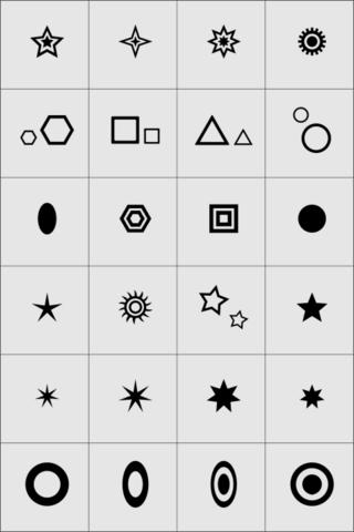 Большая коллекция трафаретов X-COLOR - Геометрия 24шт.