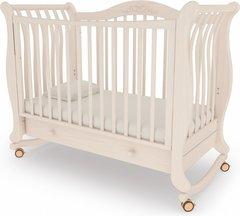 Кровать детская Габриэлла колесо-качалка,ящик выбеленный бук