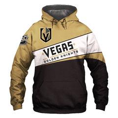 Толстовка утепленная 3D принт,  НХЛ Вегас Голден Найтс (3Д Теплые Худи  NHL Vegas Golden Knights)