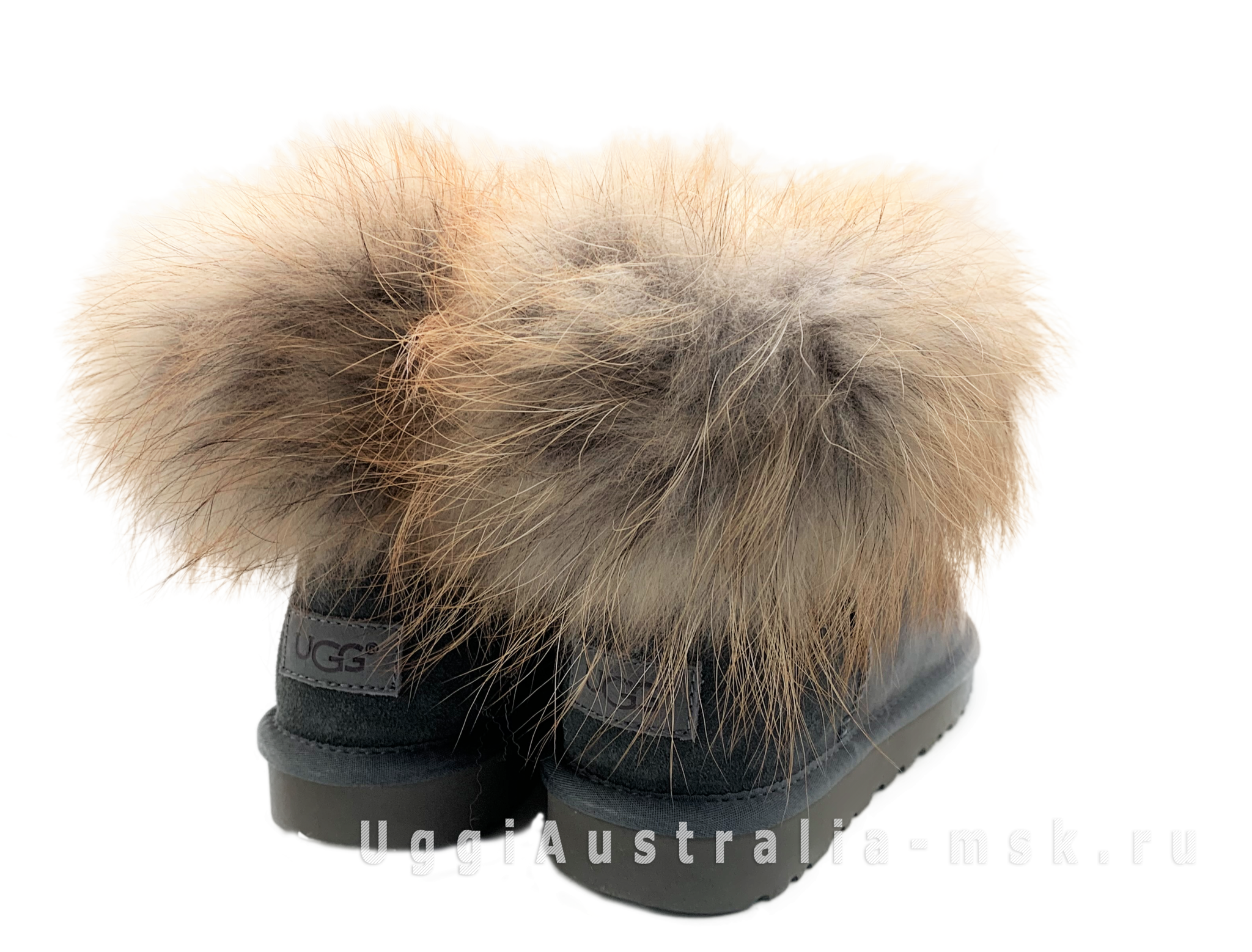 UGG Fox Fur Grey