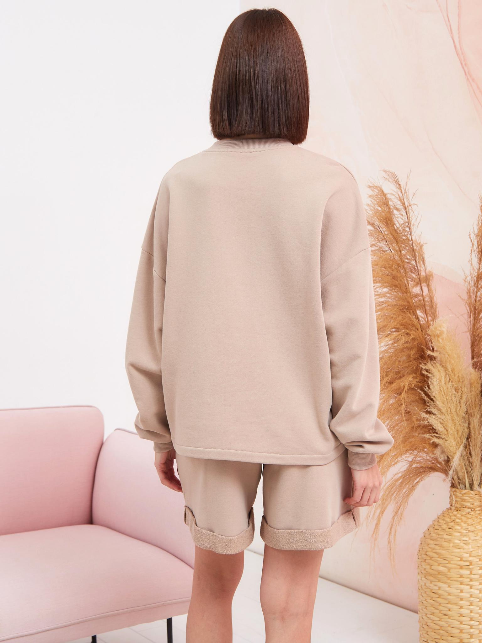BM Костюм тройка Какао (свитшот, брюки, шорты)