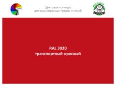 Цвет полимерного покрытия RAL 3020 транспортный красный | АЙГРЯДКИ!