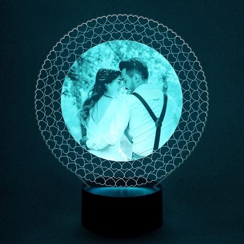 Фото - светильник круглая рамка из сердец