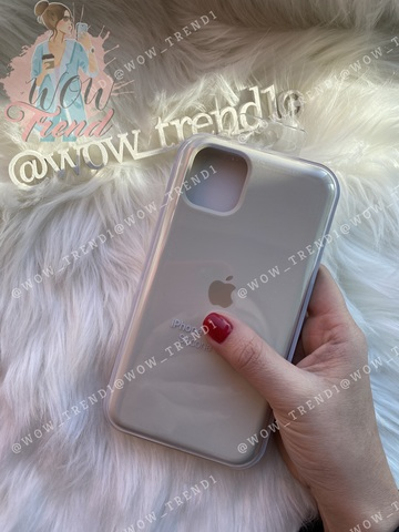 Чехол iPhone 11 Silicone Case /antique white/ молочный 1:1
