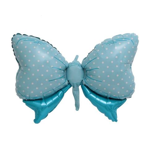Воздушный шар фигура Бант, голубой, 109 см