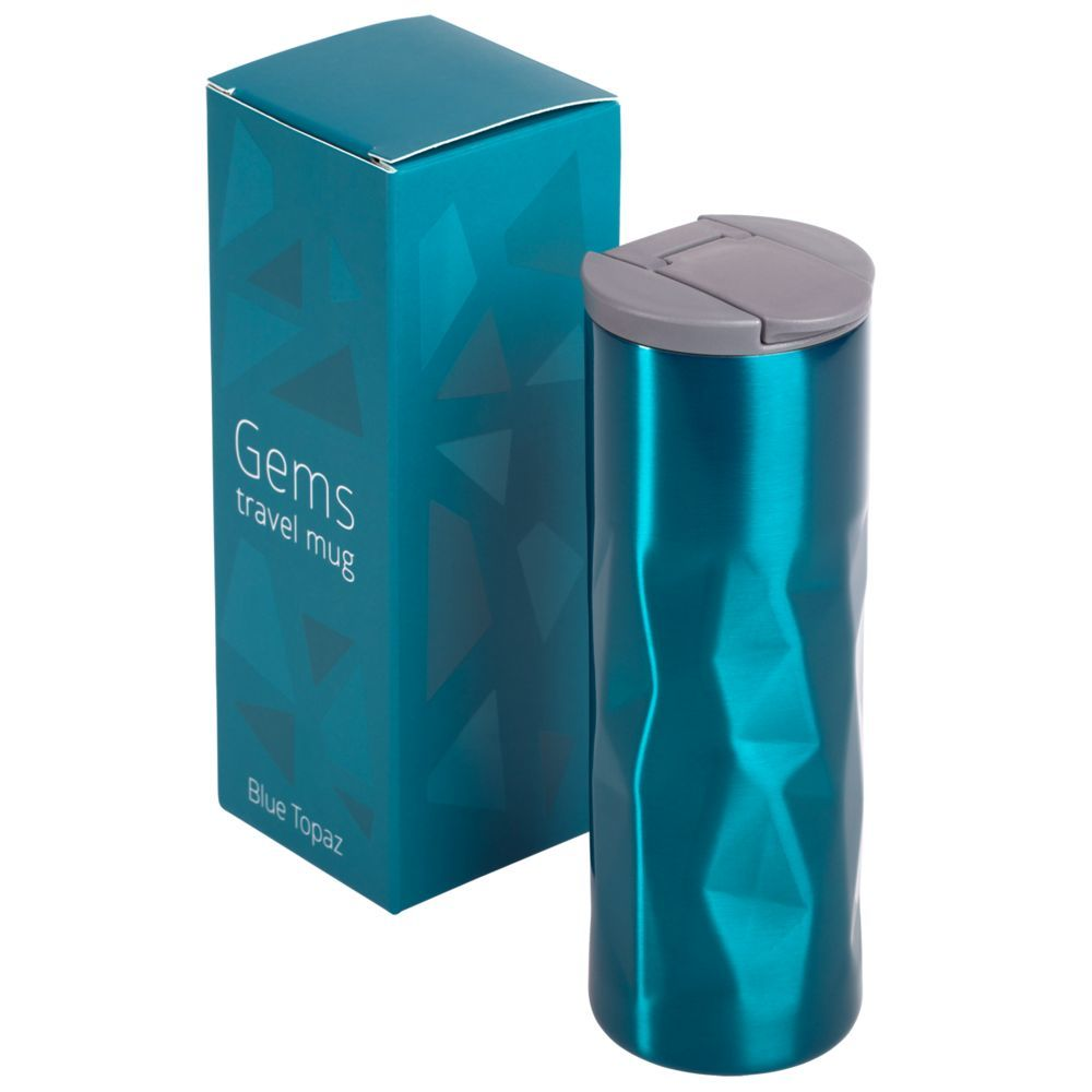 Gems Travel Mug, blue topaz