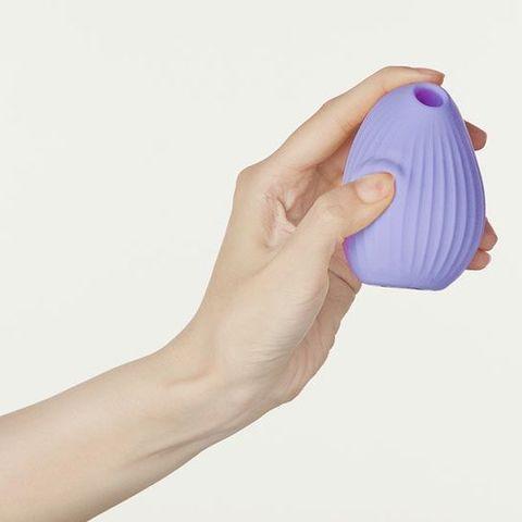 Сиреневый вакуум-волновой стимулятор с вибрацией и базой-ночником Cuddly Bird