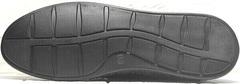 Летние мужские мокасины туфли на плоской подошве smart casual Luciano Bellini 91754-S-315 All Black.