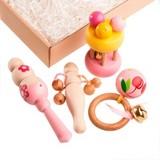 Набор погремушек Розовый в подарочной коробке