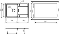 Мойка Granula 7804 схема