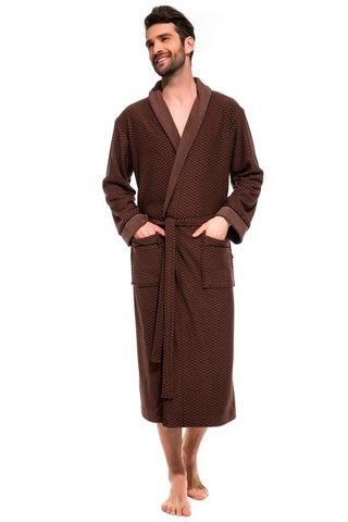 Облегченный махровый халат из бамбука и хлопка 419 PÊCHE MONNAIE
