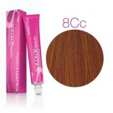 Matrix SOCOLOR.beauty: Copper Copper 8СC светлый блондин глубокий медный, краска стойкая для волос (перманентная), 90мл