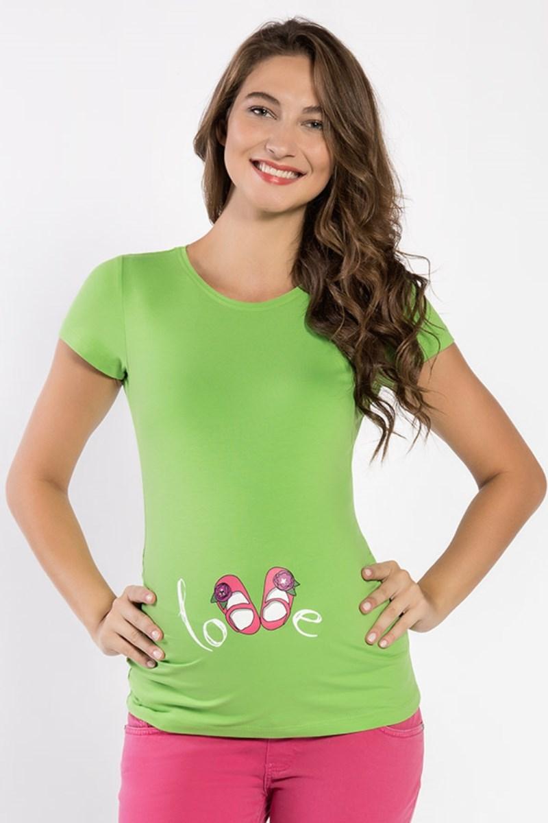 Футболка для беременных 06999 зеленый