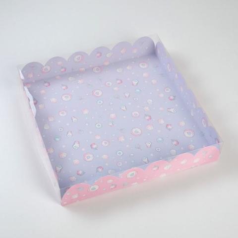 Коробка подарочная с PVC крышкой «Маленький сюрприз», 35 × 35 × 6 см