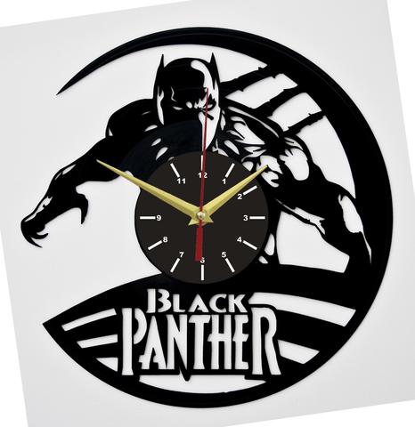 Чёрная пантера Часы из Пластинки