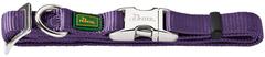 Ошейник для собак, Hunter ALU-Strong S (30-45 см), нейлон с металлической застежкой, фиолетовый