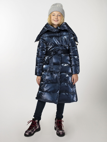 Зимнее удлиненное пальто Синий 320 г/м2 (арт. Z 103.02)