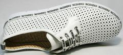 Кроссовки туфли женские кожаные GUERO G177-63 White.