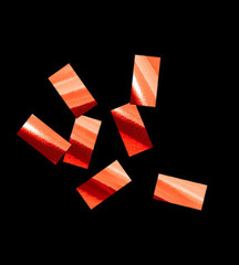 Конфетти металлизированное, Прямоугольное Красное, 1*2см, / 100 г. /