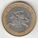 K12264 1999 Литва 2 лит XF