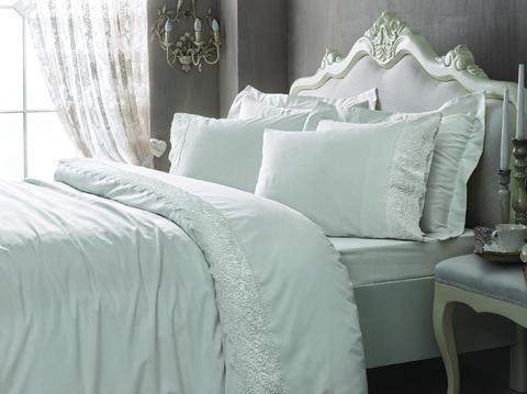 Сатиновое постельное бельё семейное, ELEGANT кремовое