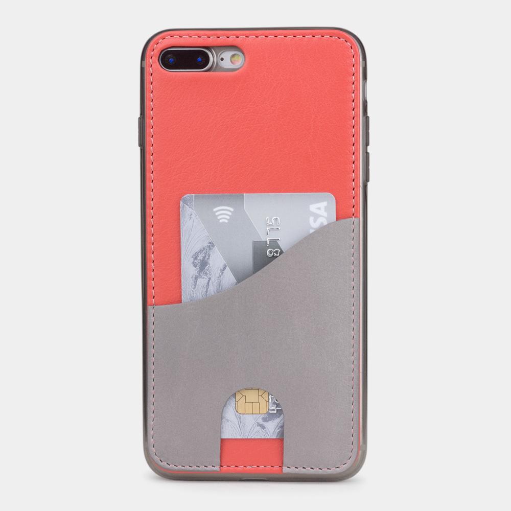 Чехол-накладка Andre для iPhone 7 Plus из натуральной кожи теленка, кораллового цвета