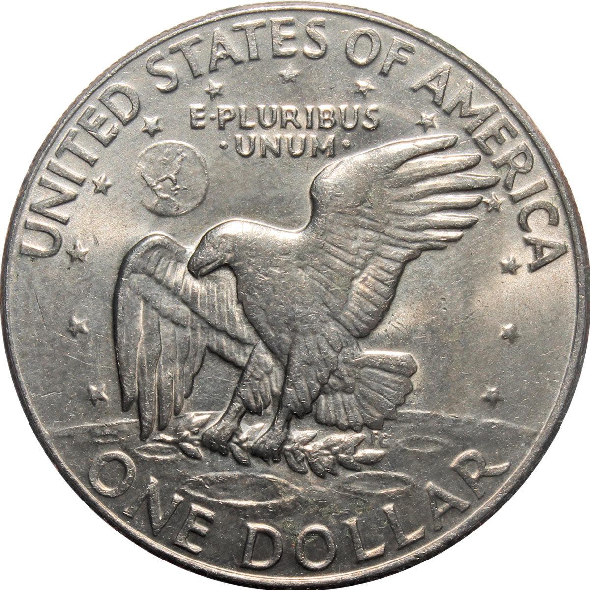 1 доллар 1974 (D) США Эйзенхауэр (Лунный). XF
