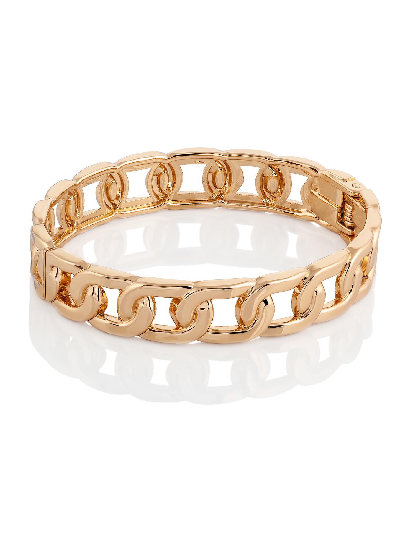 Золотистый браслет в подарочной коробке