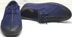 Модные мужские мокасины туфли летние стиль смарт кэжуал Luciano Bellini 91268-S-321 Black Blue.