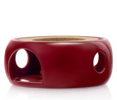 """Подставка-нагреватель """"Prometheus"""" для подогрева чайника свечой керамическая бордовая, темно- красная"""
