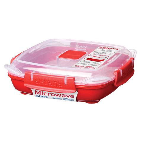 """Тарелка для разогрева в СВЧ Sistema """"Microwave"""" 440 мл"""
