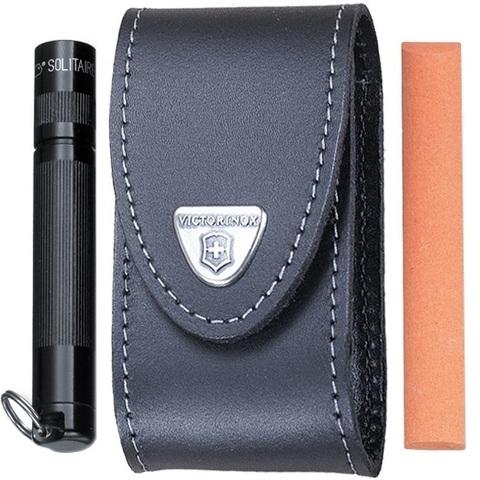 Чехол кожаный с дополнительными отделениями для широких ножей Victorinox 85 и 91 мм. (4.0521.32) - Wenger-Victorinox.Ru