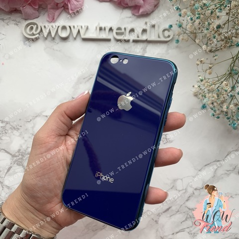 Чехол iPhone 6/6S Glass Case Logo /blue/