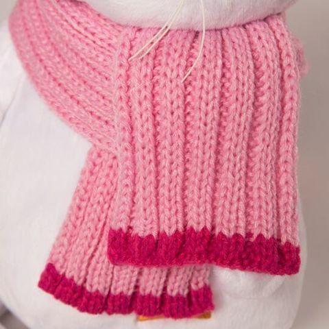 Кошечка Ли-Ли в розовой шапке с шарфом