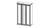 Шкаф  АФИНА 3-х ств. корень крем с зеркалом