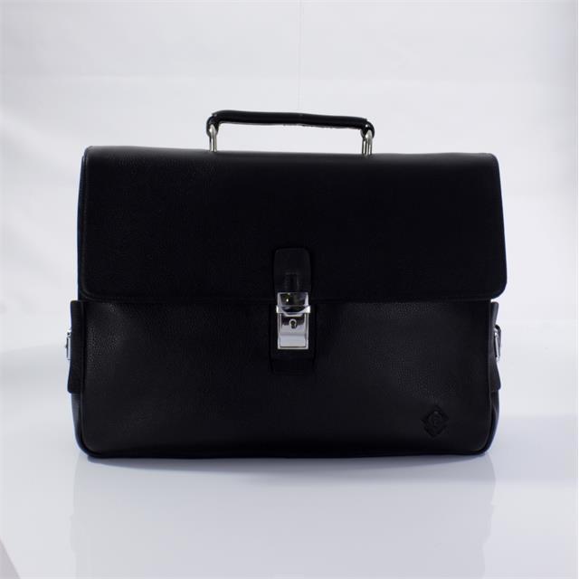 Кожаный портфель черный Fidelio Largo 023 black FL