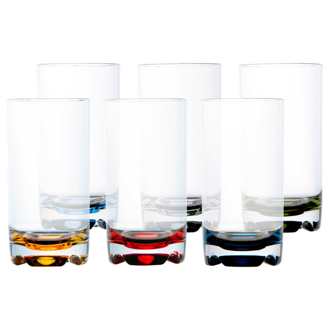 BEVERAGE GLASS, PARTY – COLOURFUL BASE