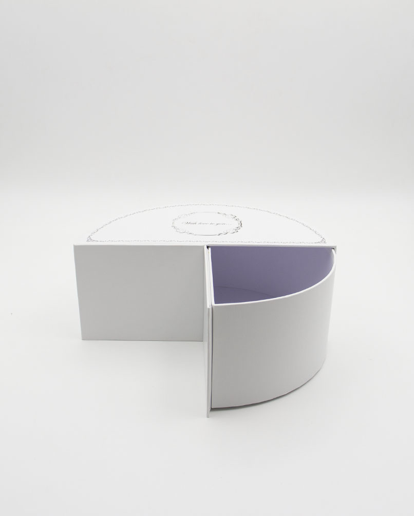 Коробка Неженка Полукруг Малая белая