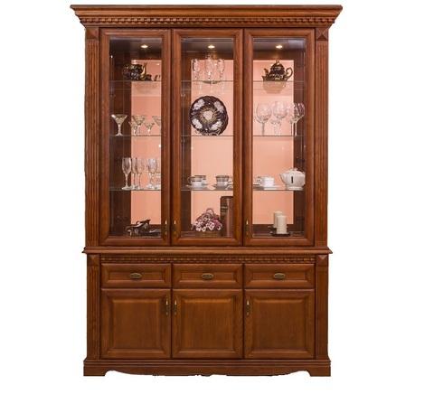 Шкаф с витриной 3 дв. Афина Высокий