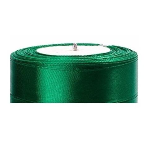 Лента атласная (размер:25мм х 25 ярдов) Цвет:зеленый
