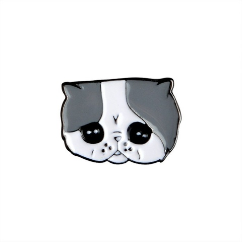 Значок, пін - Сумний котик