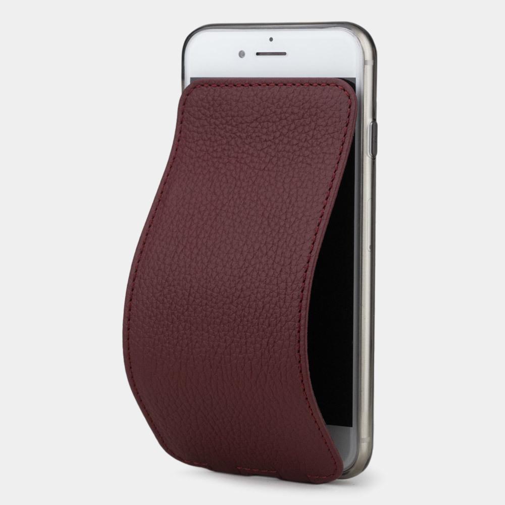 Чехол для iPhone 8 Plus из натуральной кожи теленка, бордового цвета
