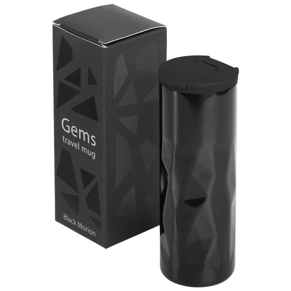 Gems Travel Mug, black morion
