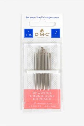 Иглы для вышивания гладью №1-5, 12 шт (DMC)