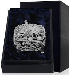 Серебряная шкатулка «Павлин» с чернением