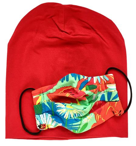 Комплект из шапки и маски для лица